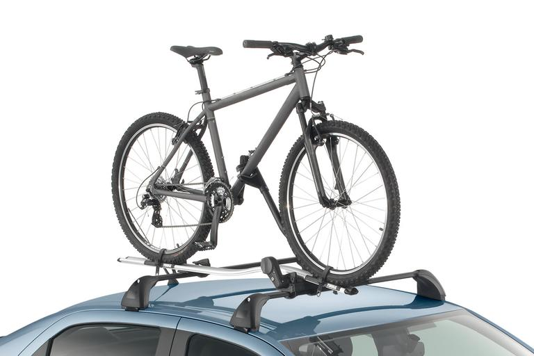 Bike carrier on roof bars