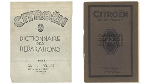 The first repair catalogue by Citroën