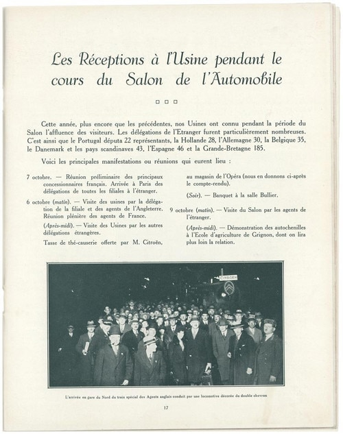 Opening of the Citroën factory at Javel