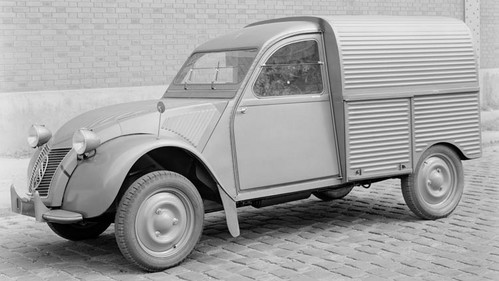 Citroën 2CV Van presented at the Paris Motor Show