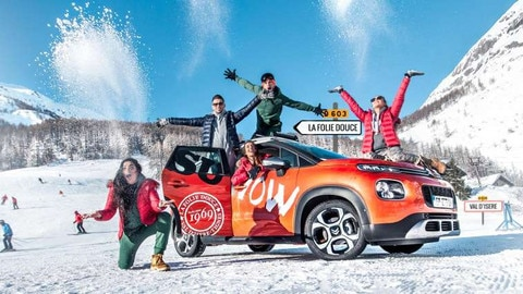New Citroën C3 Aircross Heads for the Alps At 'La Folie Douce' In Val D'isère
