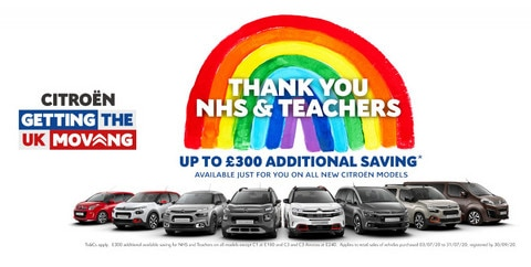 Citroën Is 'Getting the UK Moving' Again: And Saying Thank You to NHS Staff and Teachers
