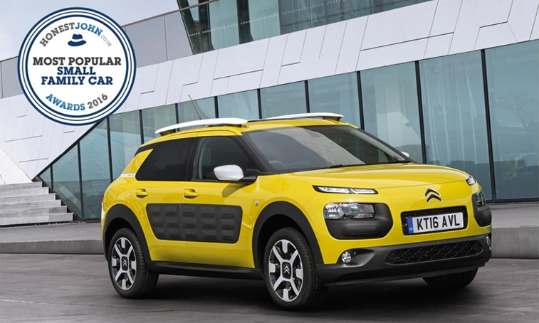 bc24c383af8986 Citroën C4 Cactus wins  Most Popular Small Family Car  in the Honest John  Awards 2016