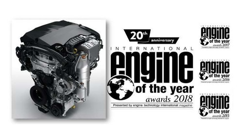 PureTech 3-cylinder petrol engine named International Engine of the year for the 4th year running