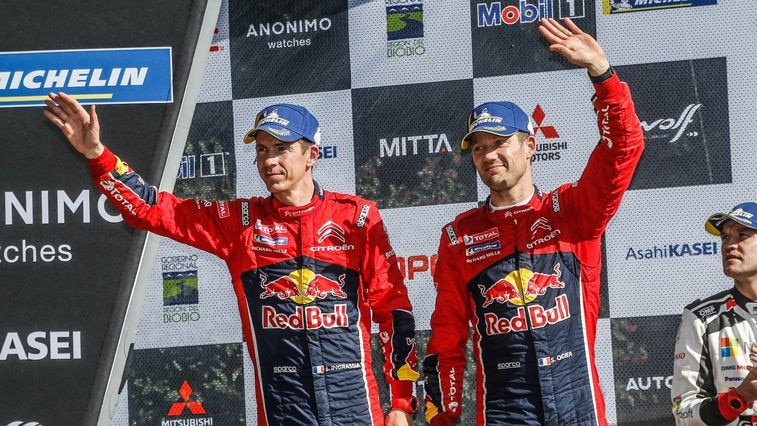 Sebastian-Ogier-Podium-Second-Place