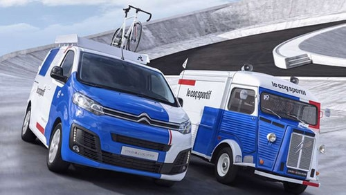 Citroën and Le Coq Sportif team up to customise a Type H and Dispatch