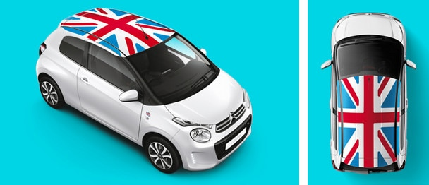 Citroen C1 grand britain UK Union jack