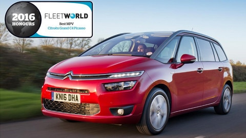 Citroën Grand C4 Picasso scores hat-trick of wins in 'Best MPV' category at Fleet World honours